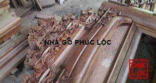 Đục chạm vì thuận nhà gỗ lim 3 gian